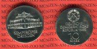 10 Mark 1985 DDR Gedenkmünze Wiedereröffnung Semperoper Dresden prägefr... 42,00 EUR