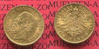 5 Mark Goldmünze 1877 Baden, German Empire State of Baden Grossherzog F... 475,00 EUR