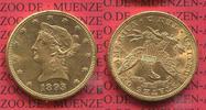 10 Dollars 1893 USA, United States of Amerika, Vereinigte Staaten Liber... 705.13 US$ 635,00 EUR