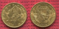 USA 20 Dollars Gold Liberty, Frauenkopf,  Double Eagle