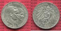 5 Mark Silbermünze 1915 Braunschweig Varia...