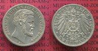 2 Mark Silbermünze 1892 Reuss ältere Linie...