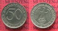 50 Pfennig 1939 D Deutschland 1933-1945 III. Reich  Nickel vorzüglich  50,00 EUR  +  8,50 EUR shipping