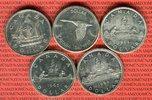 5 x 1 Dollar Silbermünzen 1949 - 1967 Kanada Lot von fünf Münzen Lot, b... 79,00 EUR  + 8,50 EUR frais d'envoi