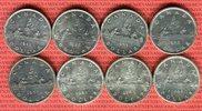 8 x 1 Dollar Silbermünzen 1935 - 1966 Kanada Lot von acht Münzen Kanu L... 149,00 EUR  + 8,50 EUR frais d'envoi