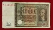 50 Rentenmark 1934 Weimarer Republik Rentenbank 6. Juli 1934 Freiherr v... 59,00 EUR  zzgl. 4,20 EUR Versand