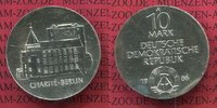 10 Mark DDR Silber Gedenkmünze 1986 DDR 200 Jahre Charité Berlin Stempe... 50,00 EUR  + 8,50 EUR frais d'envoi