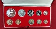 1 Rand & 2 Rand Goldmünzen + KMS 1982 Südafrika Kursmünzensatz mit 1 + ... 535,00 EUR  + 8,50 EUR frais d'envoi