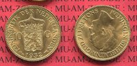 10 Gulden Goldmünze Kursmünze 1932 Niederlande Holland Wilhelmina prfr.  227,00 EUR  zzgl. 4,20 EUR Versand