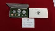 KMS 1 Cent - 10 Dollar 1975 Trinidad und Tobago Proof Set Polierte Plat... 52,00 EUR  + 8,50 EUR frais d'envoi