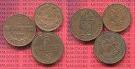 2, 3 und 4 Kreuzer 1848, 51 B 61 Österreich Lot von 3 Kupfermünzen Copp... 45,00 EUR  + 8,50 EUR frais d'envoi