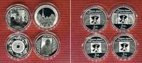 4 x 1,50 Euro Silbergedenkmünzen 2008 Fran...