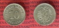 10 Pfennig 1876 J Kaiserreich Kleinmünze nach Jäger fast prfr Patina ni... 60,00 EUR  zzgl. 4,20 EUR Versand