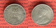 25 Cents 1917 Kanada Neufundland Georg V. sehr schön nicht gereinigt  19,00 EUR  + 8,50 EUR frais d'envoi