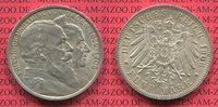 5 Mark Silbermünze Kaiserreich 1906 Baden Goldene Hochzeit des Großerzo... 195,00 EUR  + 8,50 EUR frais d'envoi