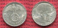 5 Reichsmark Erhaltung ! 1936 G III. Reich Kursmünze mit Hoheitszeichen... 29,00 EUR  + 8,50 EUR frais d'envoi