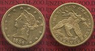 10 Dollars Goldmünze Eagle Coronet Head 18...