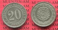 20 Pfennig 1887 A Kaiserreich Germany kleiner Adler prägefrisch  61.70 US$ 55,00 EUR  +  9.53 US$ shipping