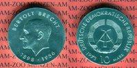 10 Mark Silbergedenkmünze 1973 DDR Gedenkmünze 75. Geburtstag Bertolt B... 35.55 US$ 32,00 EUR  +  9.44 US$ shipping