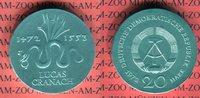 20 Mark Silbergedenkmünze 1972 DDR Gedenkmünze 500. Geburtstag von Luca... 54.43 US$ 49,00 EUR  +  9.44 US$ shipping