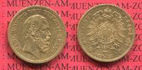 20 Mark Goldmünze 1873 Württemberg Karl, Gold sehr schön  425,00 EUR  + 8,50 EUR frais d'envoi