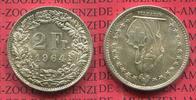2 Franken Silber Kursmünze 1964 Schweiz, Switzerland Kursmünze Circulat... 19,00 EUR  + 8,50 EUR frais d'envoi