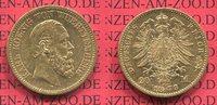 20 Mark Goldmünze 1873 Württemberg Wurttemberg Karl, Gold vz  499,00 EUR  + 8,50 EUR frais d'envoi