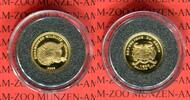 Benin 1500 Francs CFA Minigoldmünze Endangered Wildlife Leopard
