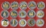 15 x 10 Dollar Silber Skulpturmünze 2002-2...