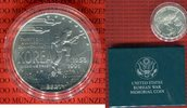 1 Dollar Silbermünze 1991 USA United States Mint, Korean War Memorial C... 29,00 EUR  +  8,50 EUR shipping