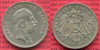 5 Mark 1903 Sachsen Georg, Kursmünze, Circulation Coin sehr schön +  79,00 EUR  zzgl. 4,20 EUR Versand