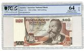 500 Schilling 1985 Österreich Postsparkass...
