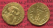 Solidus AD 641-668 Byzanz Konstantinopel C...