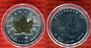 5 Dollars Silbermünze 2014 Kanada Maple Leaf Goldenes Ahornblatt BU mit... 35,00 EUR  + 8,50 EUR frais d'envoi