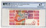 25 Gulden 1999 Niederlande Bunte Strukturen PCGS 67 Superb Gem UNC  90,00 EUR  + 8,50 EUR frais d'envoi