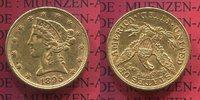 5 Dollars Half eagle 1895 USA Liberty, Fra...