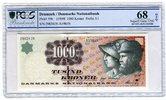 1000 Kronen Banknote 1998 Dänemark Reitermotiv Rückseite PCGS 68 Superb... 299,00 EUR  + 8,50 EUR frais d'envoi