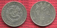 Dollar 7 Mace 8 Candareens 1909 China Kwang Tung Province Dragon Drache... 275,00 EUR  + 8,50 EUR frais d'envoi