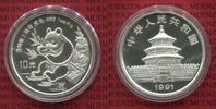 10 Yuan Panda 1 Unze Silber 1991 China Volksrepublik PRC Panda  Small D... 99,00 EUR  + 8,50 EUR frais d'envoi