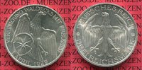 3 Mark Silber Gedenkmünze 1929 Weimarer Re...