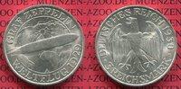3 Mark 1930 A Weimarer Republik Gedenkmünze Zeppelin Weltflug LZ 127 19... 89,00 EUR  + 8,50 EUR frais d'envoi