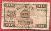 10 Gulden 10.2.1924 Danzig Bank von Danzig...
