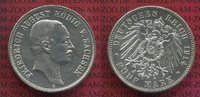 5 Mark Silbermünze 1914 E Sachsen Friedrich August III. vz-prfr.  90,00 EUR  + 8,50 EUR frais d'envoi