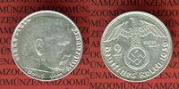 2 Reichsmark Silbermünze 1936 J III. Reich Kursmünze Hindenburg f. vz  79,00 EUR  + 8,50 EUR frais d'envoi