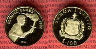 100 Tala Goldmünze 1991 Samoa, Western Samoa Olymische Spiele Barcelona... 255,00 EUR  + 8,50 EUR frais d'envoi