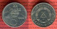 5 Mark Materialprobe in Cu/Ni 1969 DDR Probe 20 Jahre DDR vz-prfr. nich... 39,00 EUR  + 8,50 EUR frais d'envoi