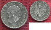 5 Mark 1876 E Sachsen König Albert s-ss rdf  45,00 EUR  + 8,50 EUR frais d'envoi