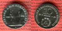 10 Mark Silbergedenkmünze 1980 DDR Gedenkmünze 225. Geburtstag Gerhard ... 37,00 EUR  + 8,50 EUR frais d'envoi