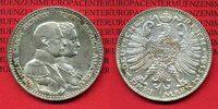 Sachsen Weimar Eisenach 3 Mark Silber Kaiserreich Sachsen Weimar Eisenach 3 Mark 1915  Jahrhundertfeier, J. 163, vz-prfr.