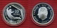 Spanien 10 Euro Silbermünze Spanien 10 Euro Silber PP 2003, Fußball WM 2006 in Deutschland